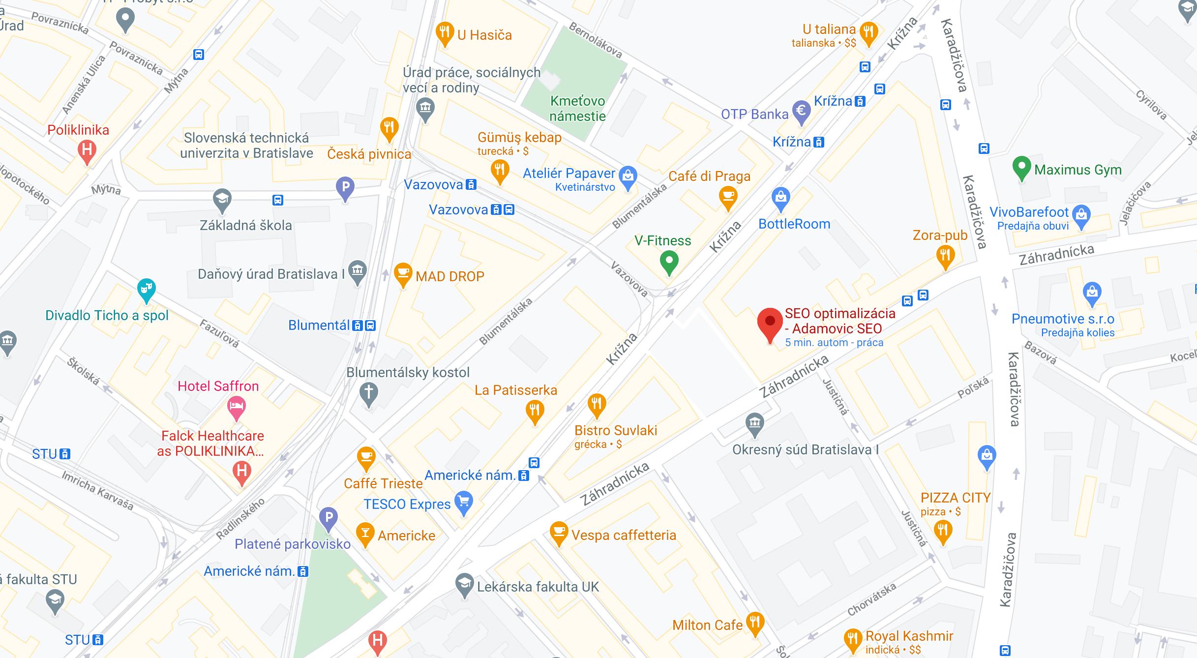 mapa adamovic seo