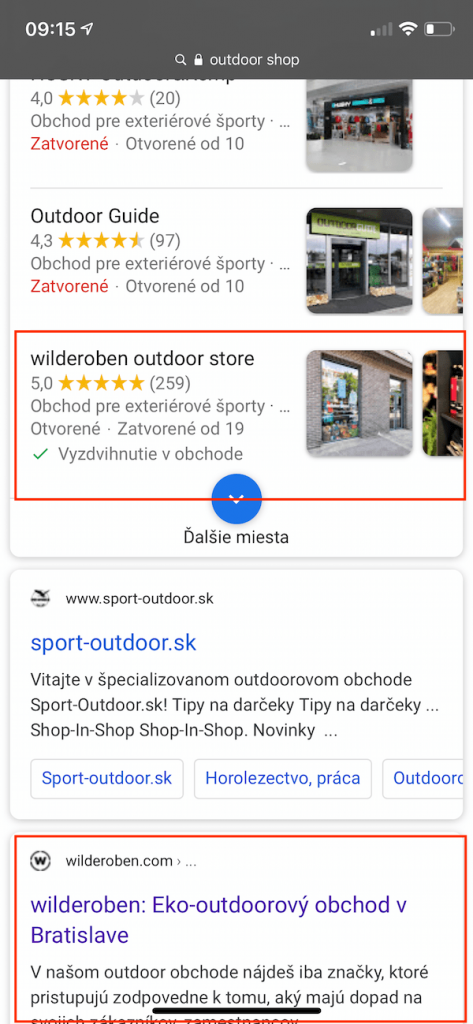 zavislost pozicie a google profilu